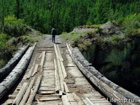 Горный Алтай. мост через Чую.