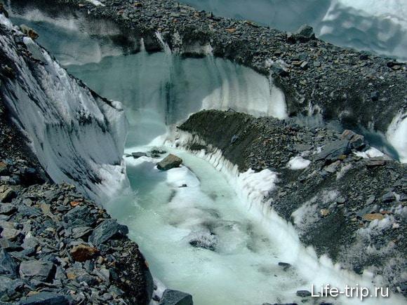 Горный Алтай. Ледник Маашей.