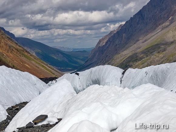 Горный Алтай. Ледник Маашей. фото Борис Волчек.
