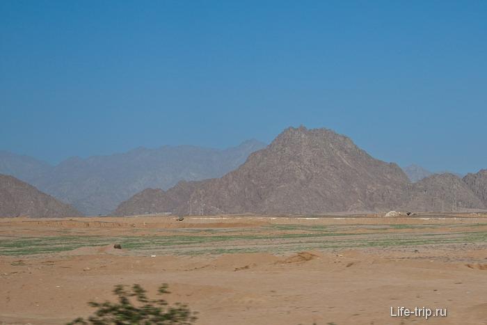 Египет. Сплошные пески.