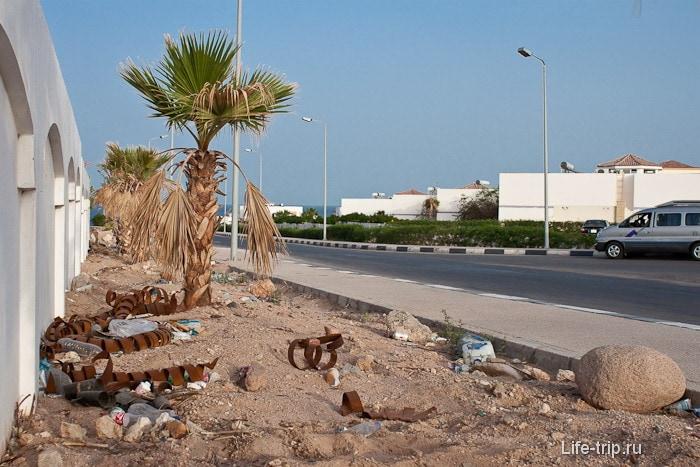 Мусор в Шарм-эль-Шейхе. Египет.