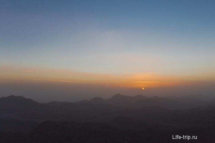 Гора Моисея (гора Синай). Рассвет.