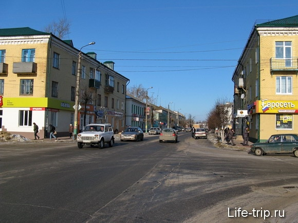 Город Мценск. Главная улица.