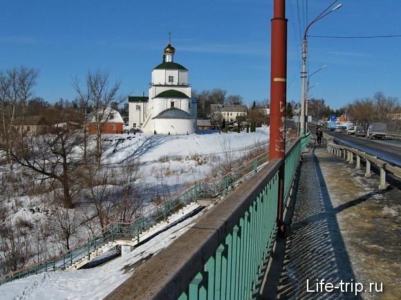 Город Мценск. Мост через Зушу.