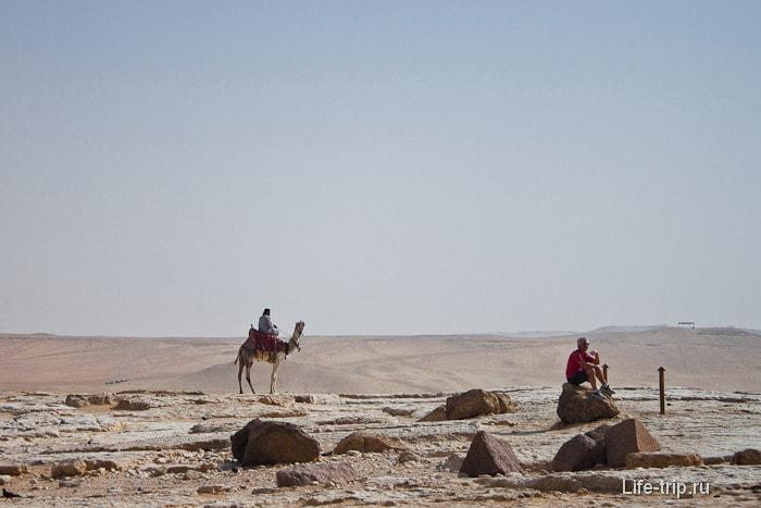 Плато Гиза и пустыня Сахара.
