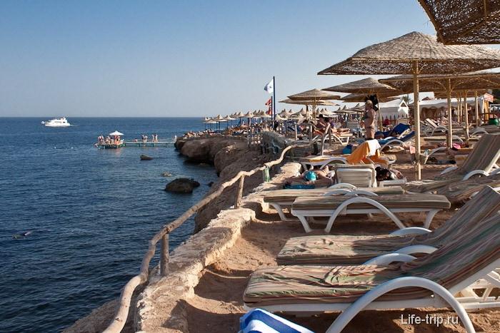 Отдых в Шарм-эль-Шейхе. Пляж.