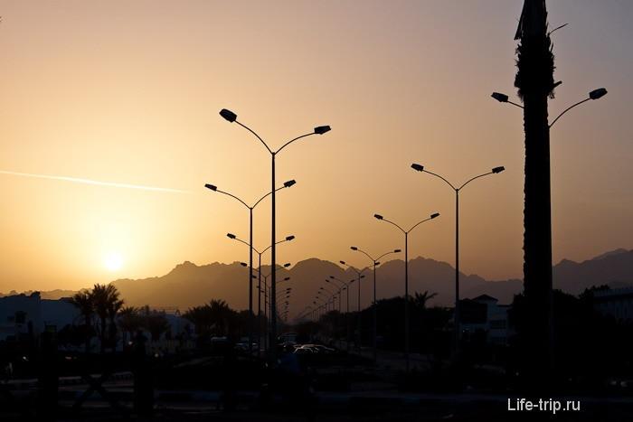 Закат в Шарм-эль-Шейхе. Египет.