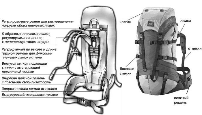 Как выбрать рюкзак. Подвесная система и основные элементы рюкзака.