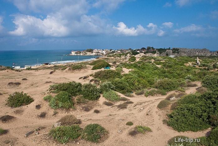 Песчаные барханы Сиде. Турция.