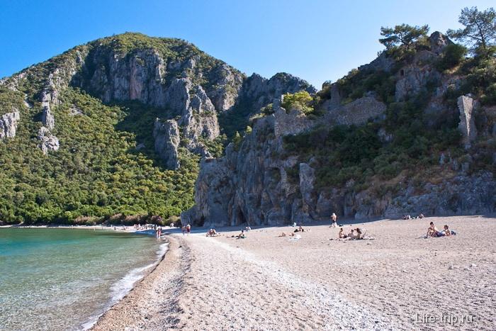 Пляжи Олимпос. Чирали. Турция.