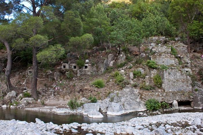 Город Олимпос на правом берегу реки Улупинар.