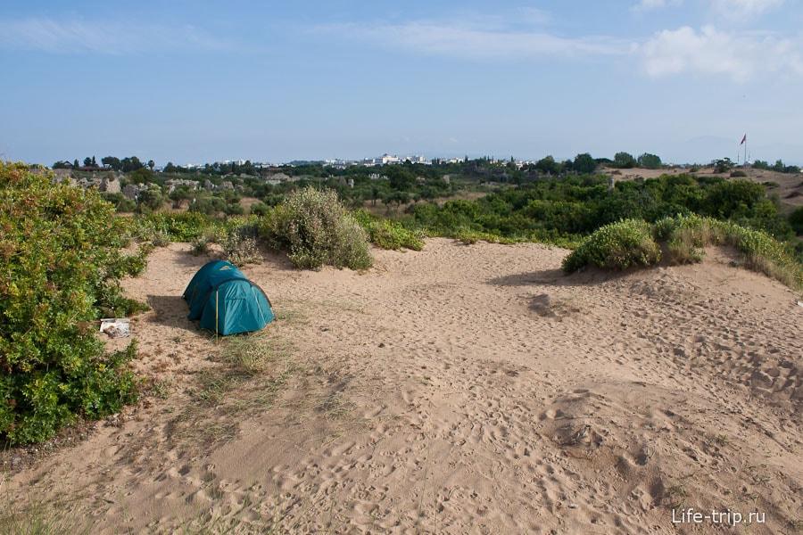Хорошее место для палатки