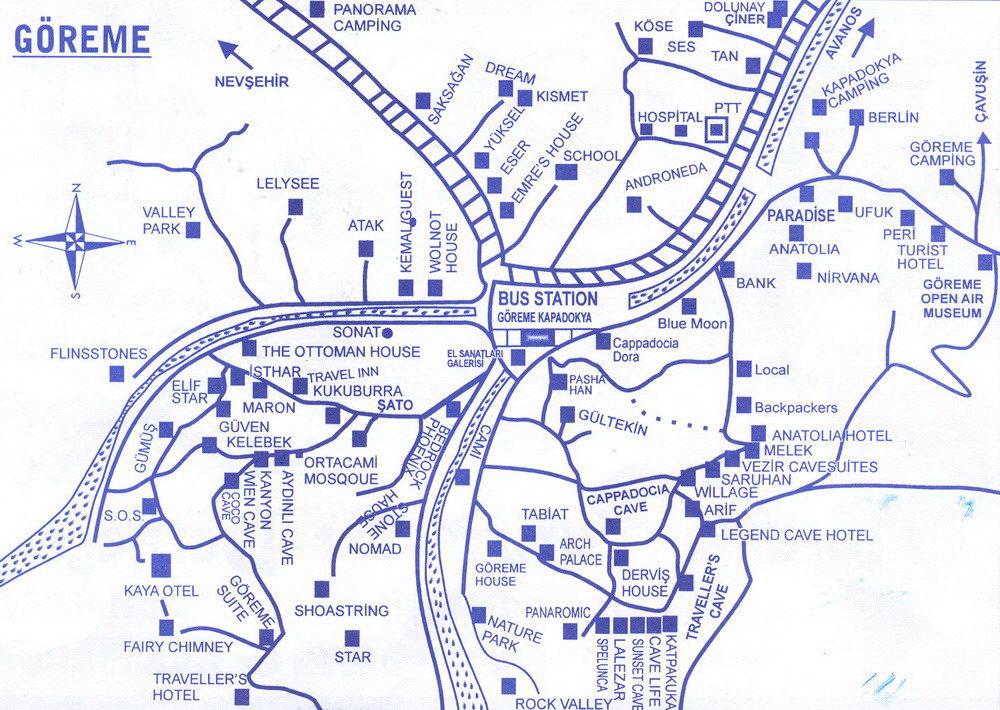 Карта Гёреме