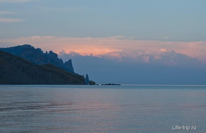 Закат в Лисьей бухте. Крым.