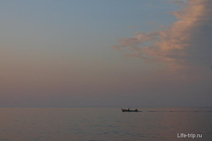 В Карасу на побебержье Черного моря.