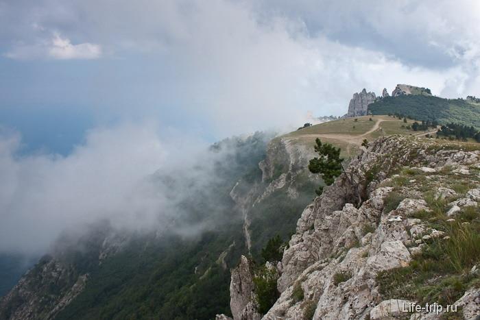 Гора Ай-Петри на заднем плане.