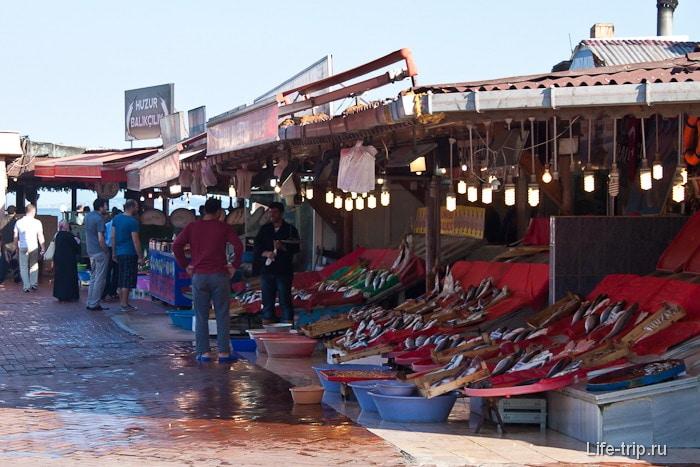 Рыбный базар на берегу Мраморного моря. Вонь страшная.