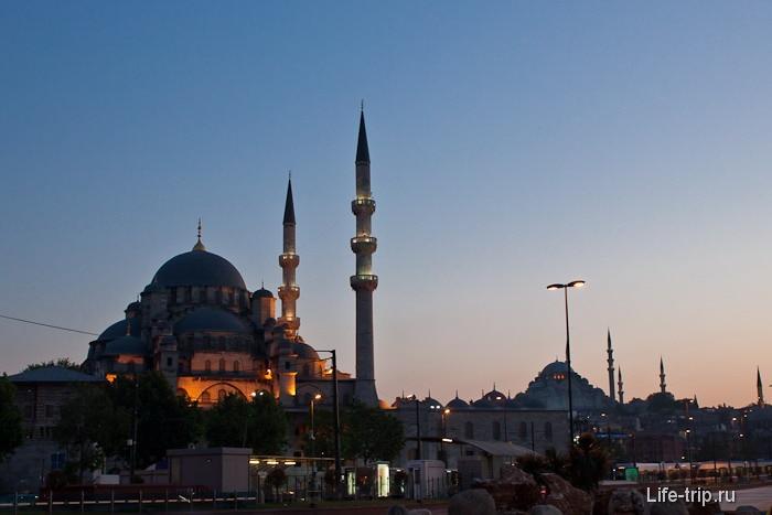 Вечерний Стамбул. Турция.