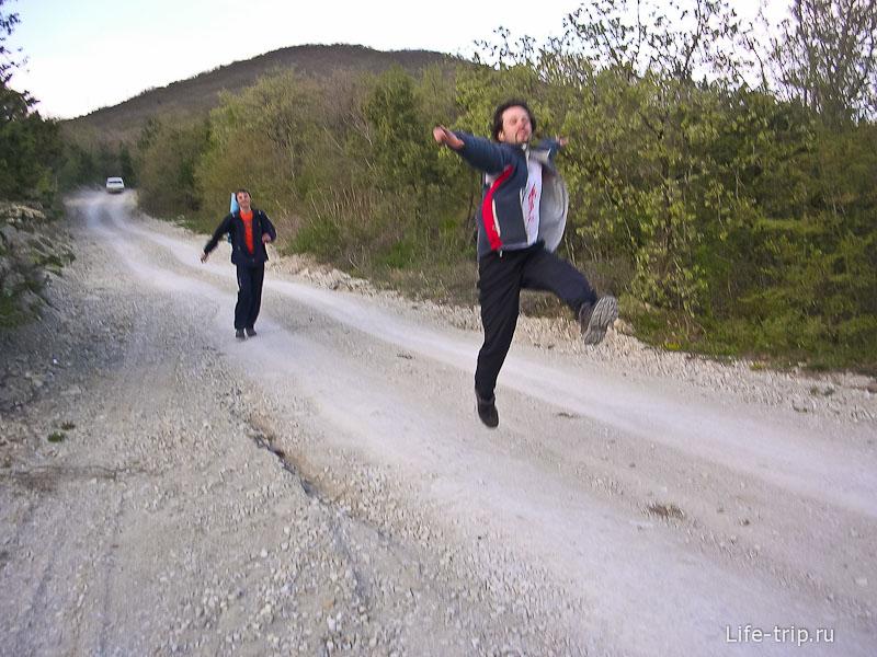 Вот так мы спускались с горы