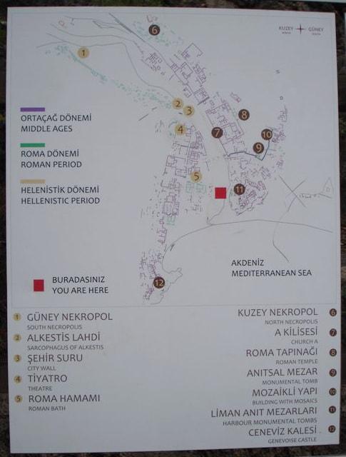 Олимпос. Турция. Карта.