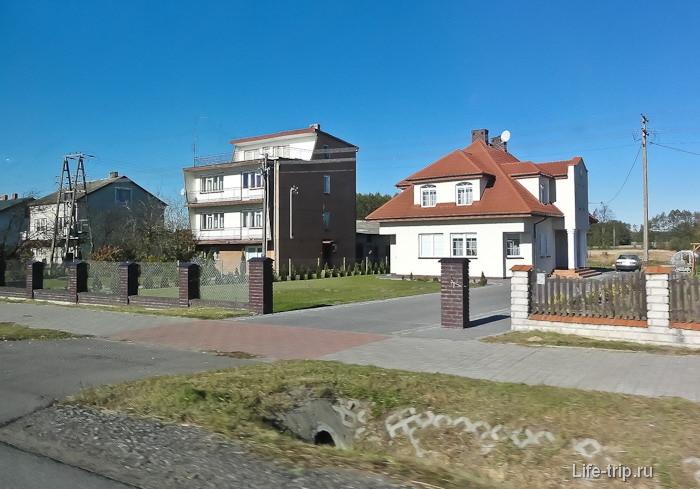 В пригородах Польши в большинстве своем домики ухоженые и аккуратные