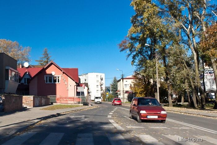 Обычная улочка обычного городка в Польше