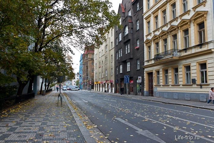 Старая Прага  приятная расцветка домов