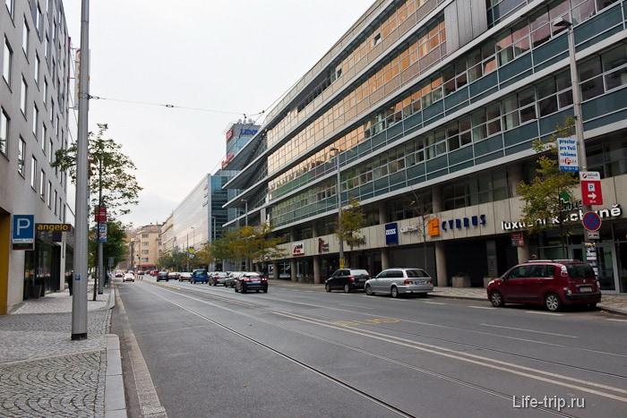 Обычная улица в Праге