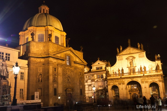 Центр Праги, старый город вечером