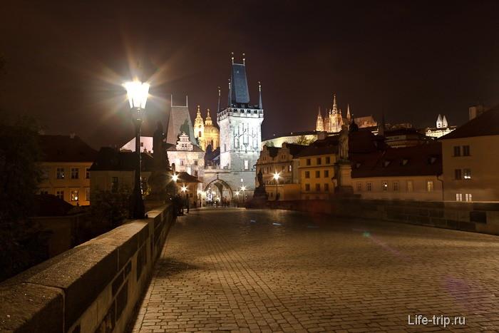 Старая Прага вечером, Карлов мост