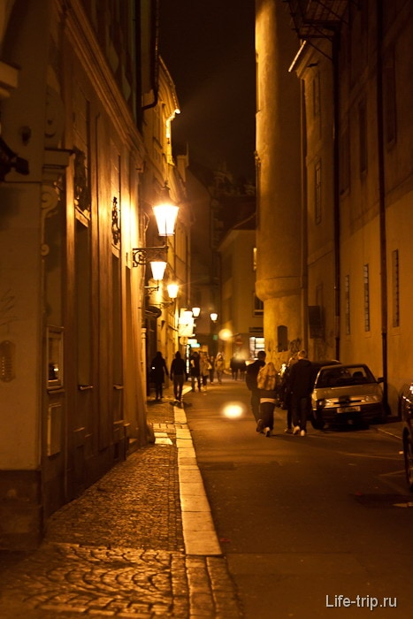 Улочки старой Праги вечером