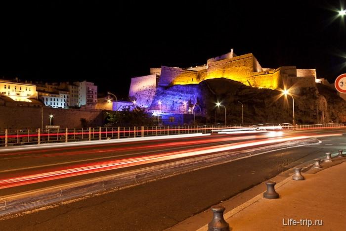 Ночной город Марсель
