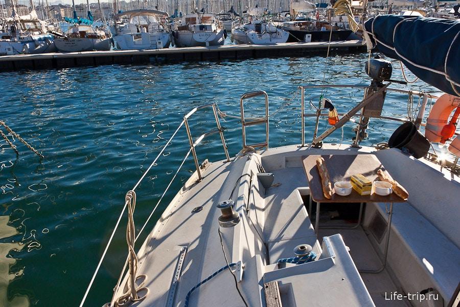 Франзцузский завтрак на яхте
