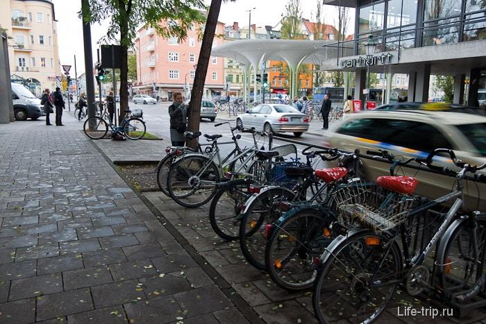 Сплошные велосипеды на улицах города
