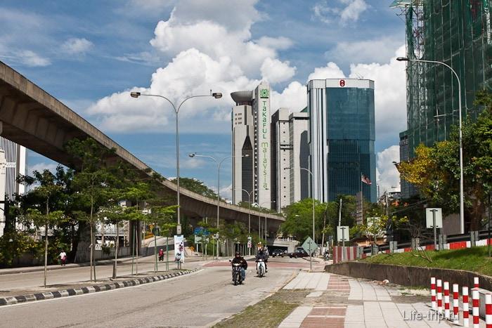 Современный город Куала-Лумпур
