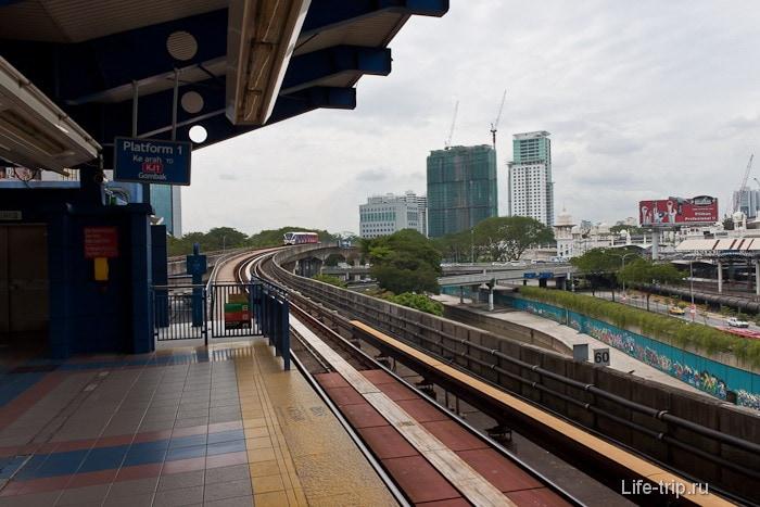 Современное метро в Куала-Лумпур