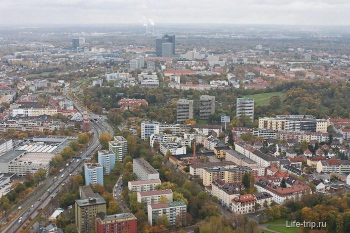Город Мюнхен с высоты