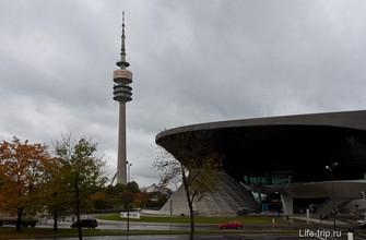 Олимпийская башня и салон BMW Welt