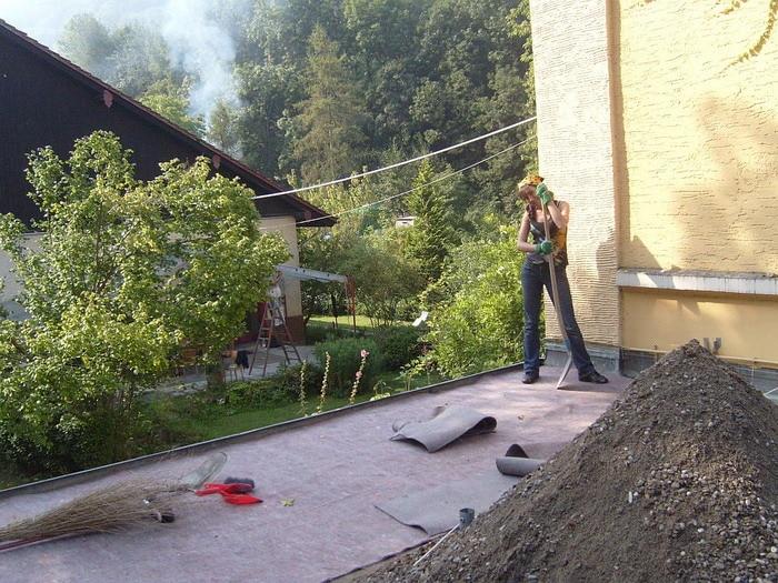 Чистили крышу