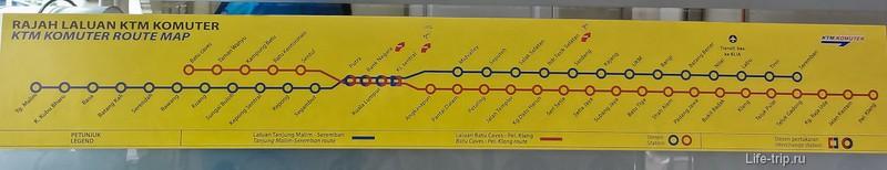Схема движения поездов KTM Komuter, Куала Лумпур