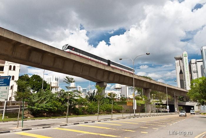 Поезд LRT, легкое метро в Куала Лумпур
