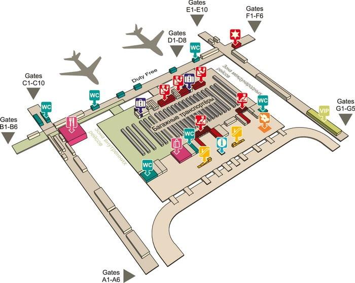 Тайланд.  Схема аэропорта в Бангкоке.  Турфирма Сантатур.
