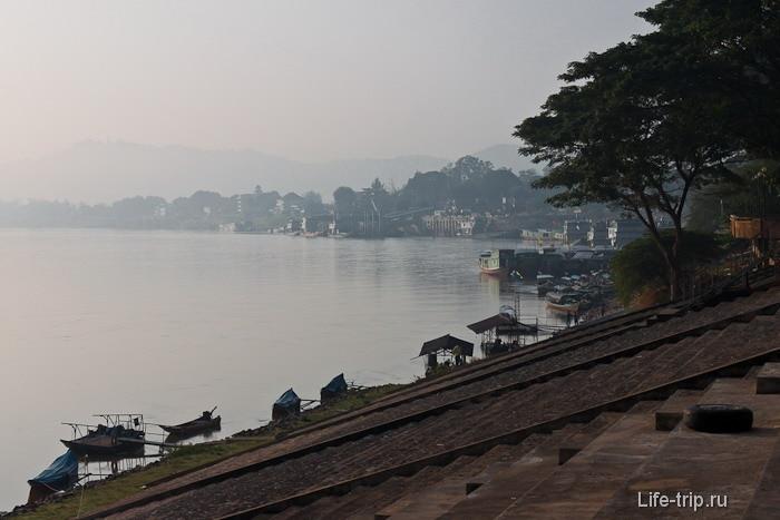 Река Меконг в Чианг Саен рано утром