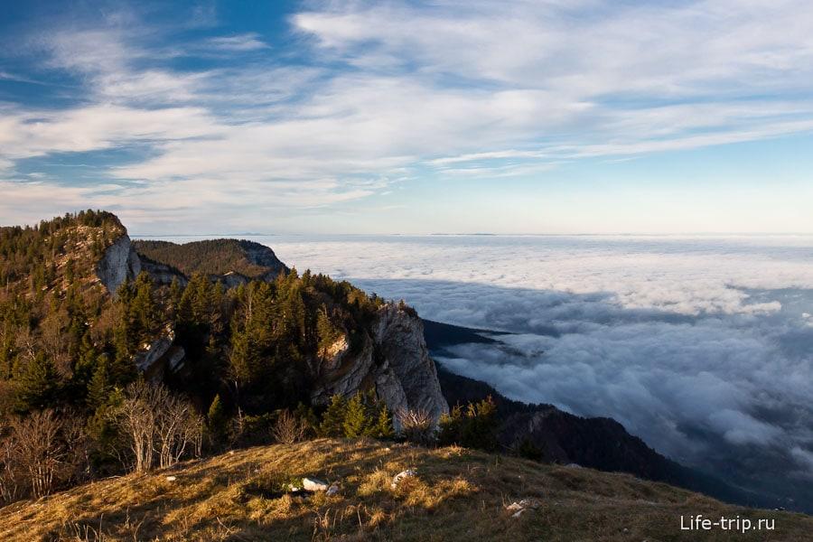 Французские Альпы Гренобля - рассвет
