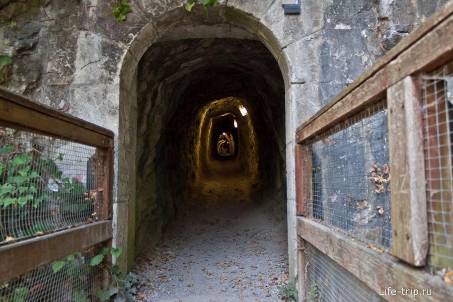Выход из пещеры около Гренобля