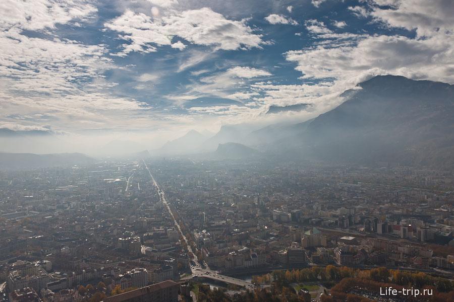 Гренобль с высоты Бастилии