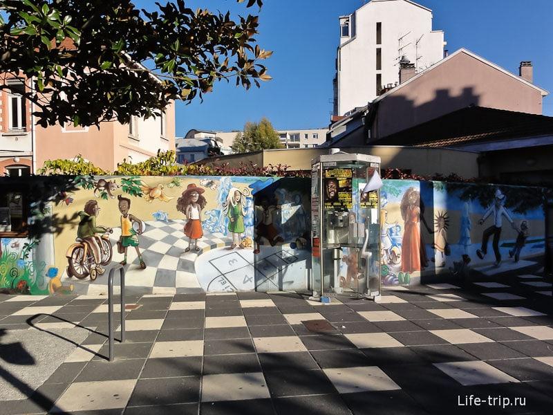 Граффити на улицах Гренобля