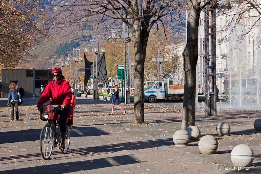 Велосипедист Гренобля