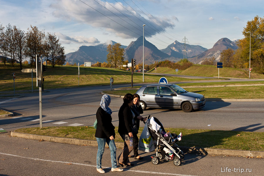 Французские горы в Гренобле