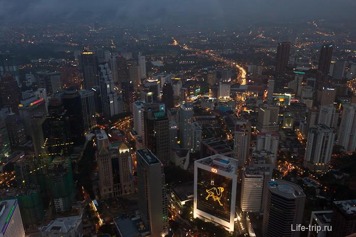 Куала Лумпур вечером